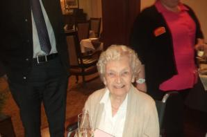 Determination and dark chocolate! Resident at Sunrise in Hale Barns shares tips as she celebrates 104th birthday