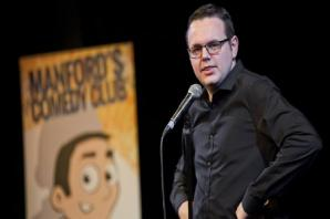 Jason and little brother Colin launch Manford's Comedy Club at The Garrick in Altrincham