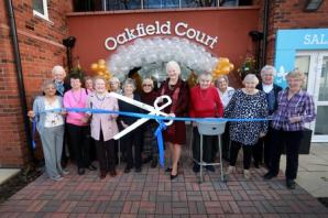Dame Mary celebrates with retirees in Urmston at Oakfield Court grand opening